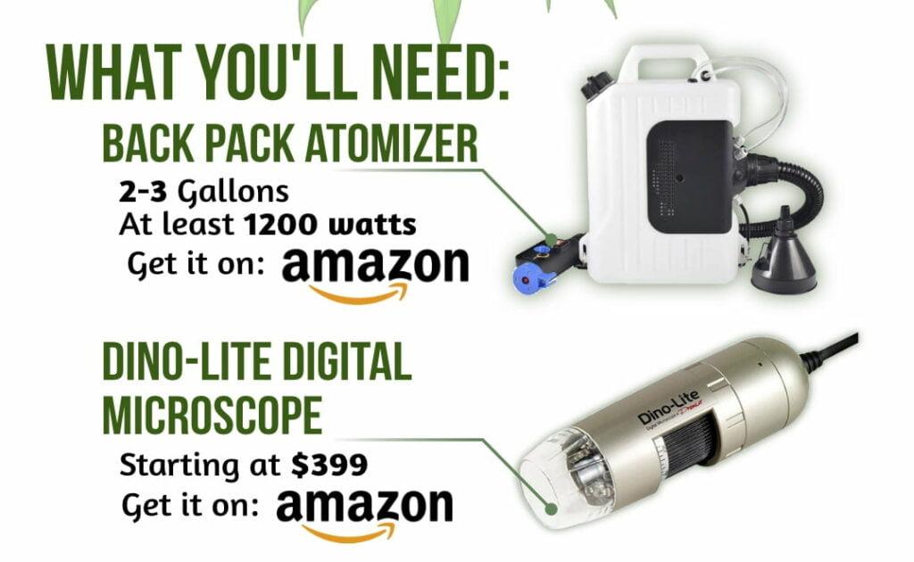 dino-lite microscope cold fogging atomizer
